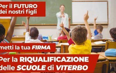 Piano straordinario per rigenerare le scuole di Viterbo, una petizione